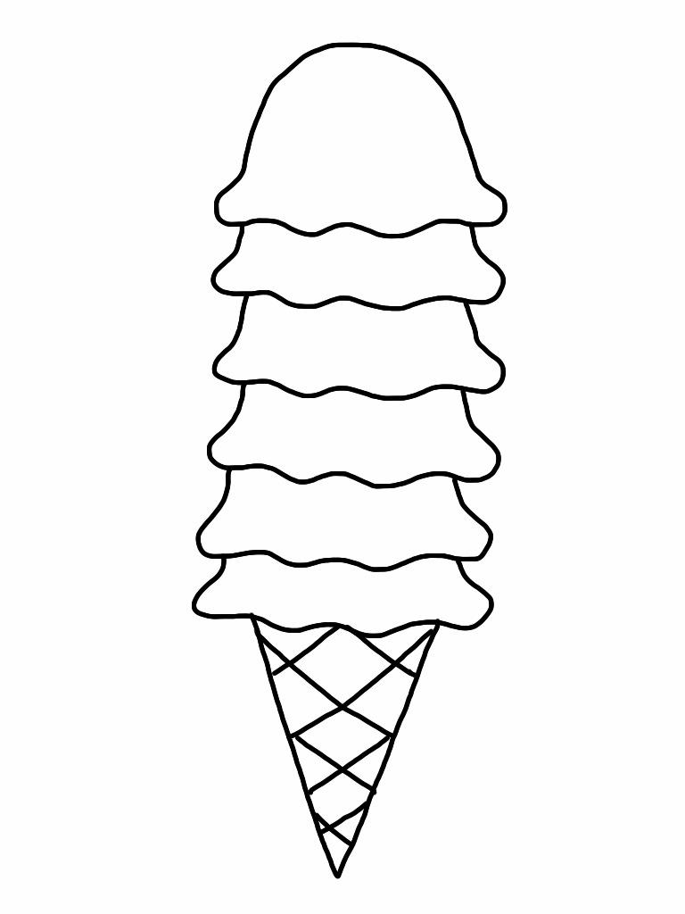 Ice Cream Cone Coloring Page Free Download Clip Art Free Clip