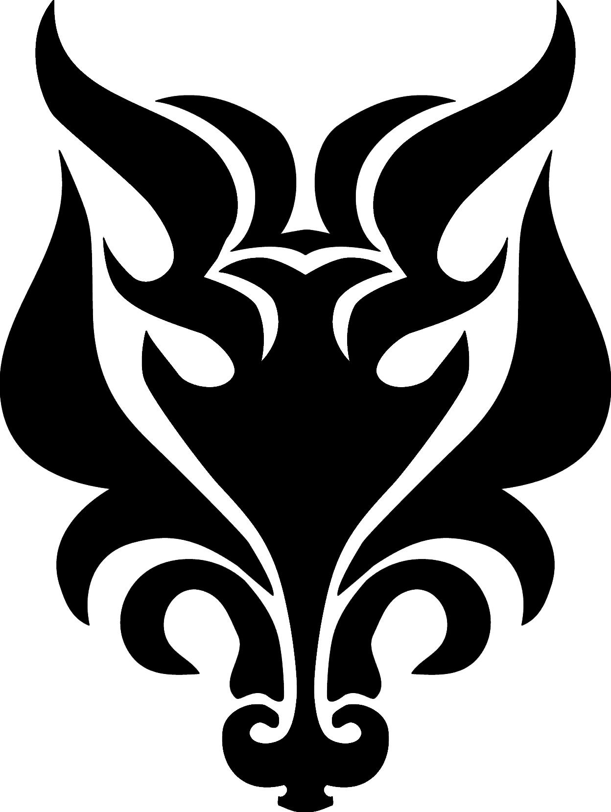 Howling Wolf Head Clip Art