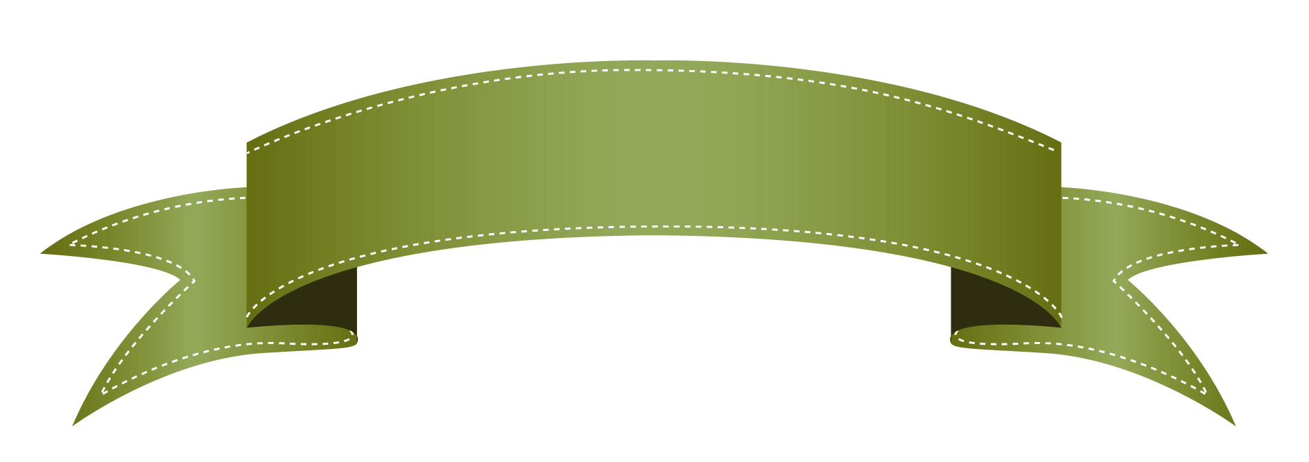Wrap around ribbon banner template for Banner wrap