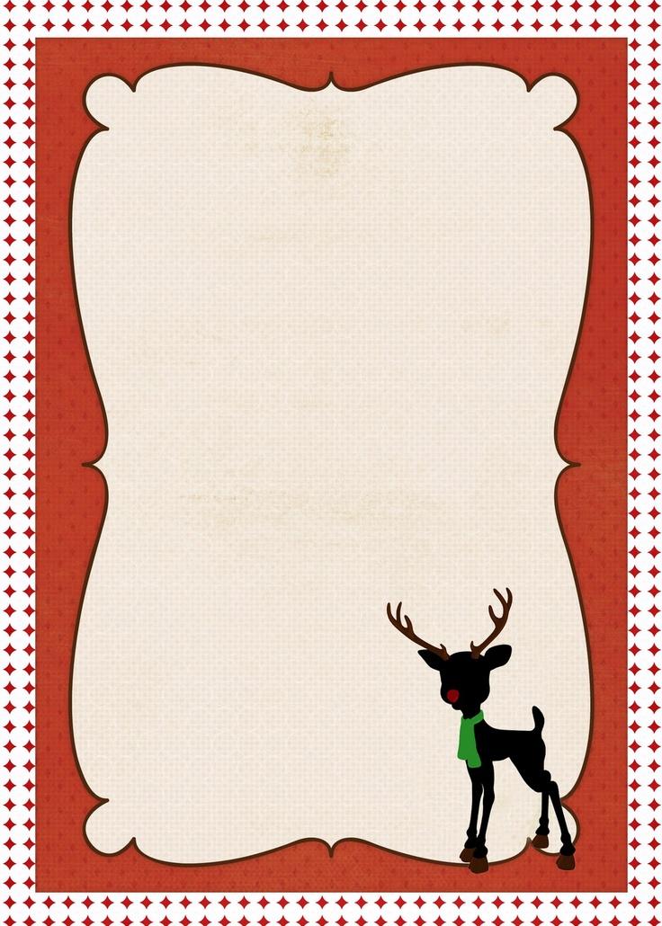 Christmas Border Stationary Printable