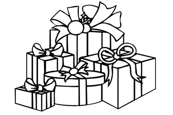 christmas present coloring pages # 46