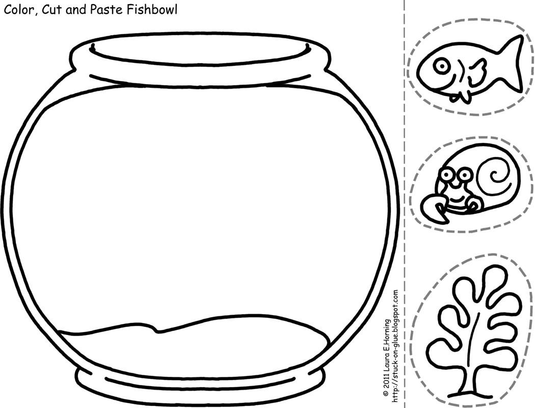 Fish Bowl Coloring Page Coloring Pages Pictures Imagixs Clip