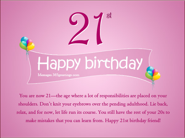 Animated Happy Birthday 21st Graphics