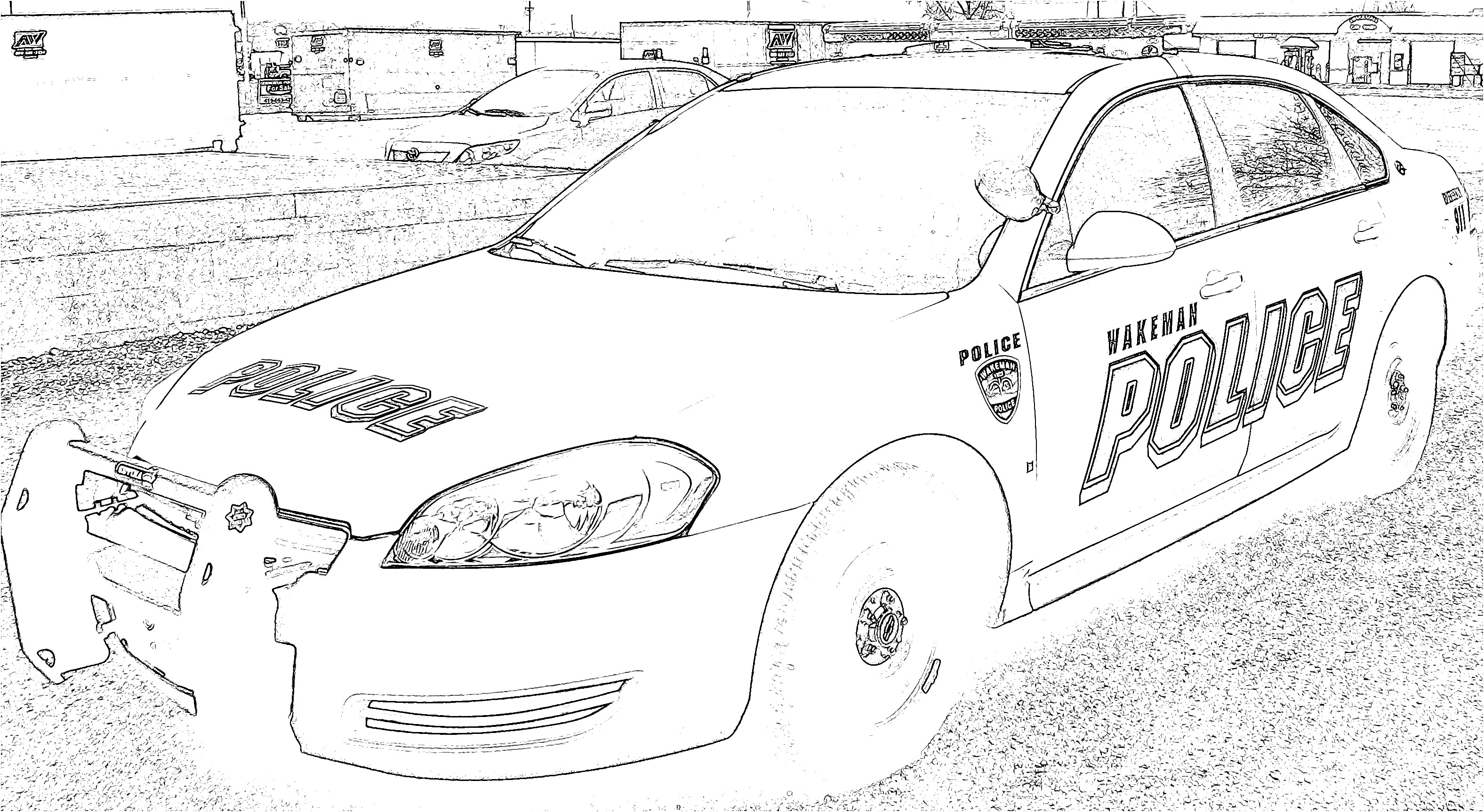 Police Car Coloring Pages Printable Car Police Coloring Page