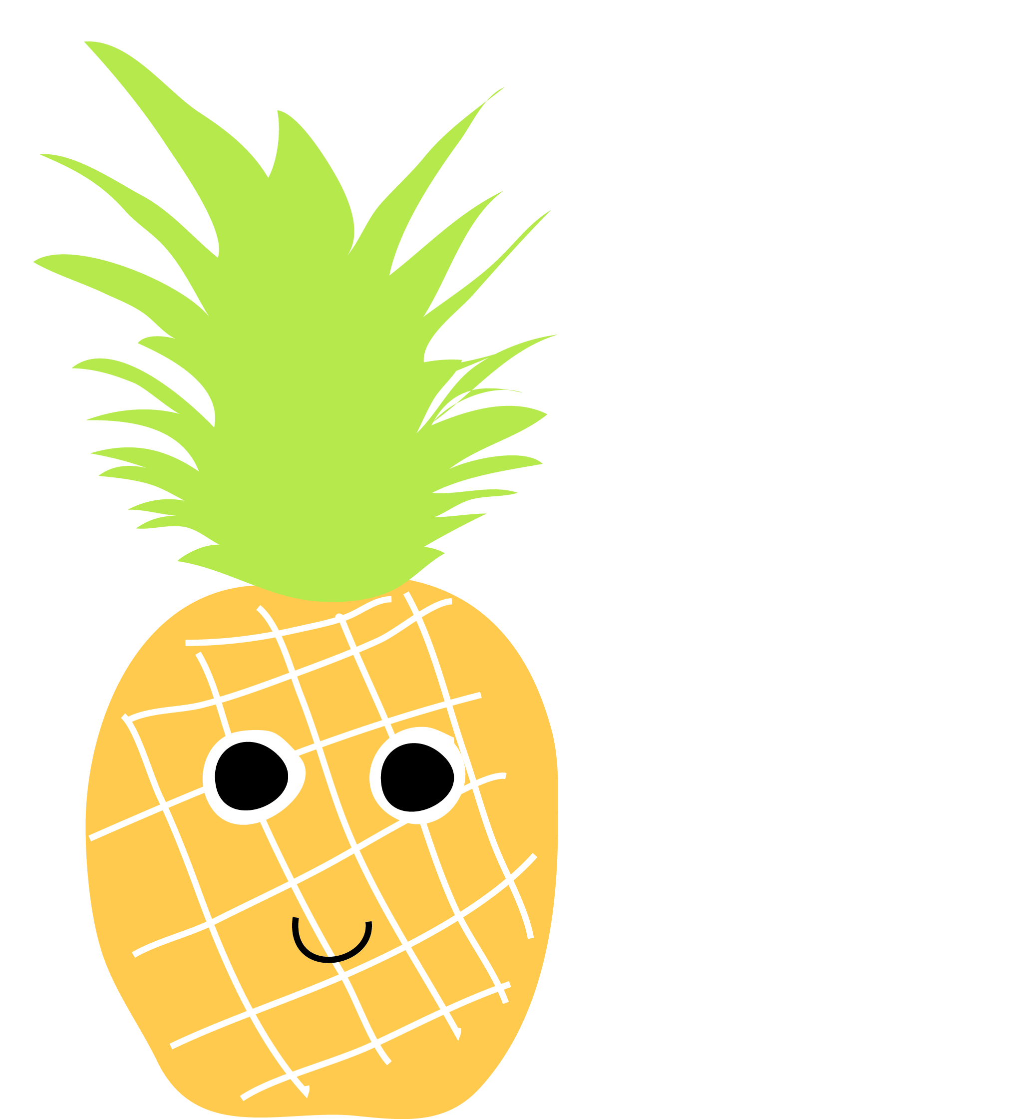 Image of: Pineapple Wallpaper Pineapple Stencil Clipart Library Free Clipart Images Pngkey Cartoon Pineapple Tumblr Clip Art Library