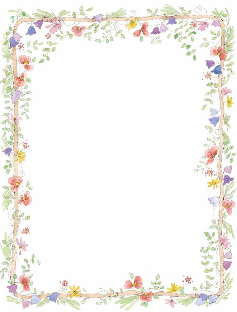 Flower Border Designs For Paper Images Pictures - Becuo