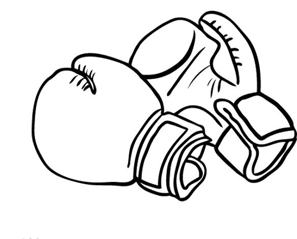 Boxing Gloves Pink Sketch