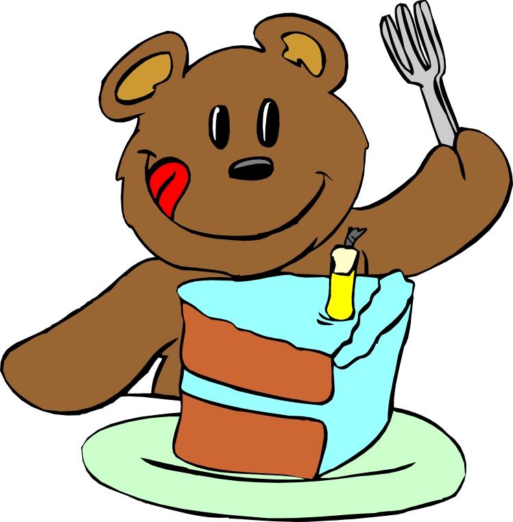 White And Clip Black Honey Bear Eating
