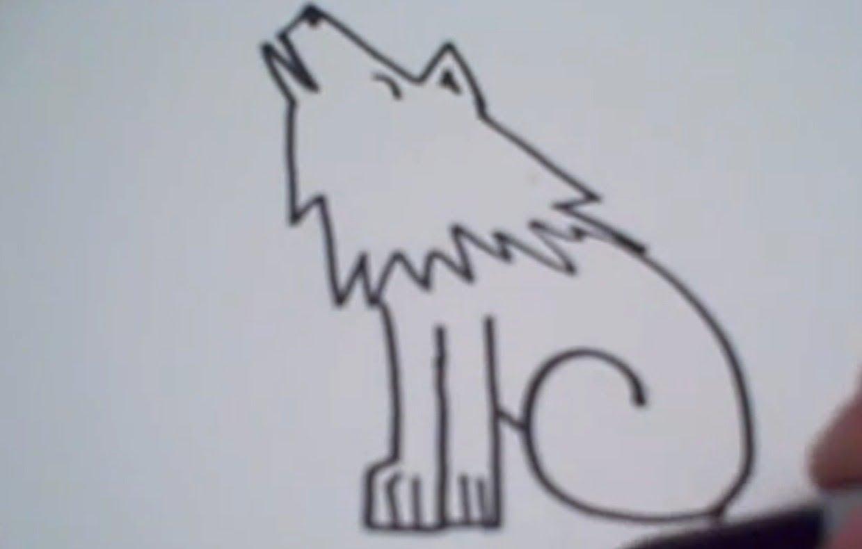 Cartoon Wolf Drawings Pencil