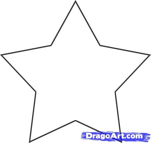 Clip Stars Shooting Art Outline 3d