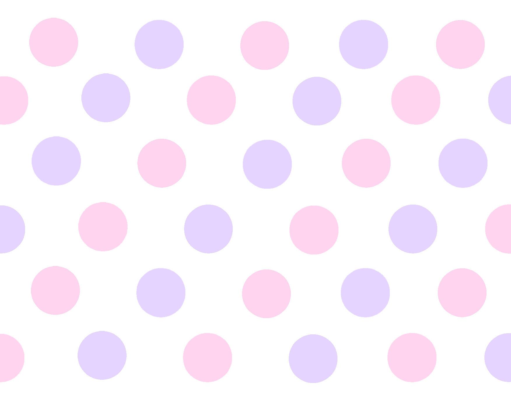 And Polka Border Gray Dot Pink