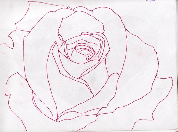 Free Rose Outline, Download Free Clip Art, Free Clip Art ...