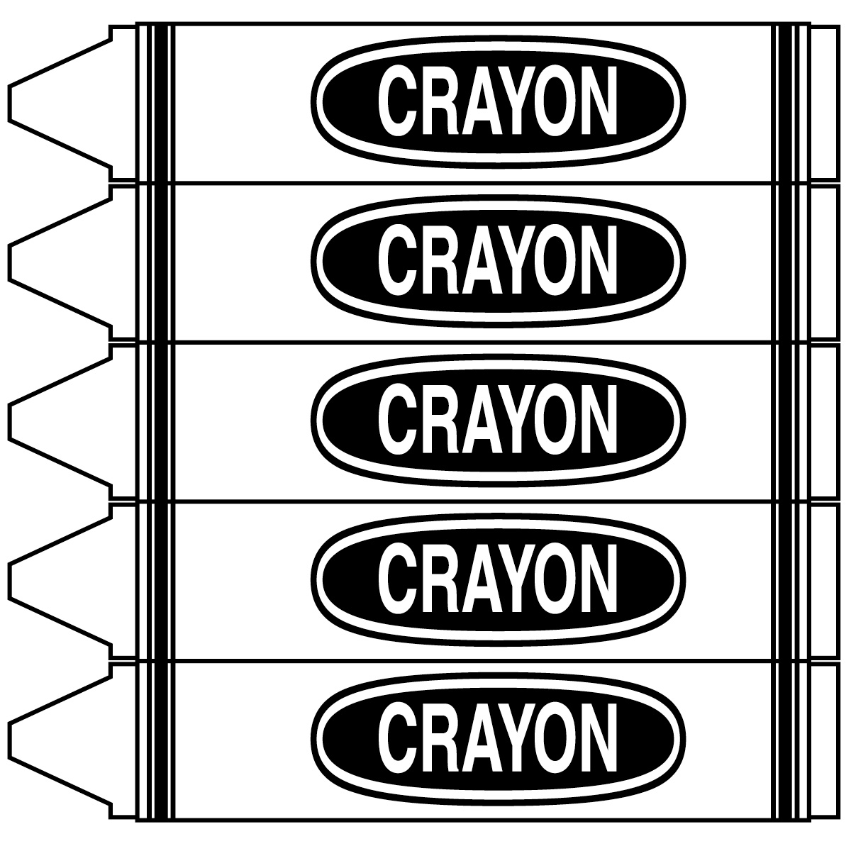 Art Black White Clip Words Crayons Color And
