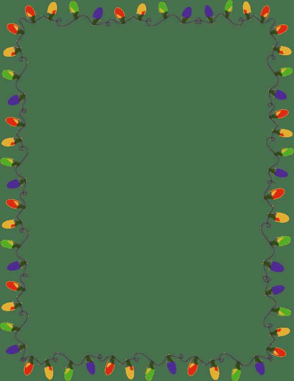 Outline Christmas Light Frame