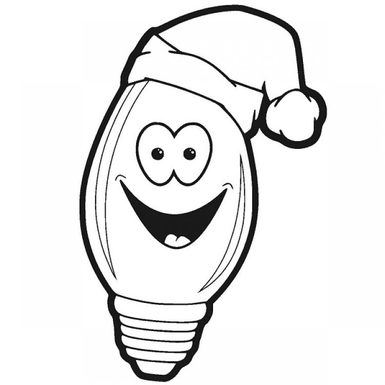 Christmas Light Clip Art Face