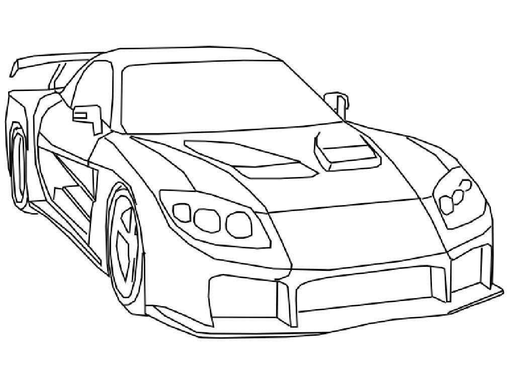 Car blueprints mazda rx 7 veilside fortune tokyo drift clip art