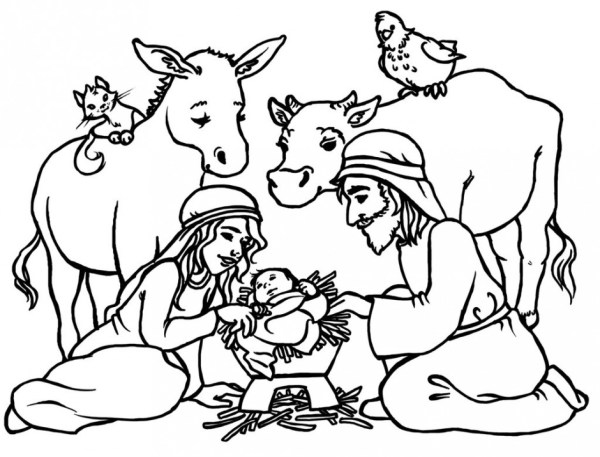 baby jesus coloring page # 9