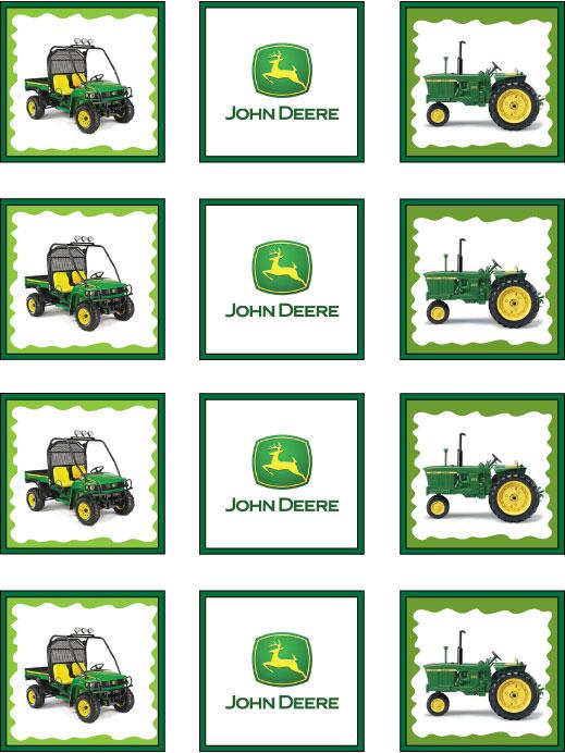John Deere Tractor Cartoon Coloring Pages