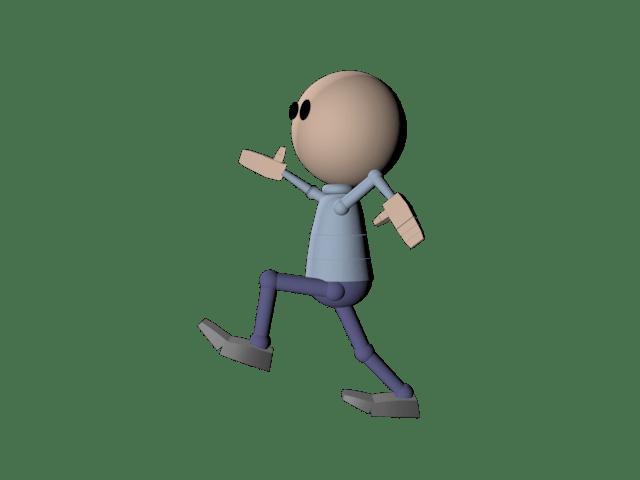 3d Person Walking Clip Art