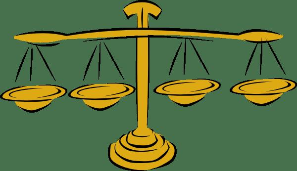 Balance Scale Clip Art Black