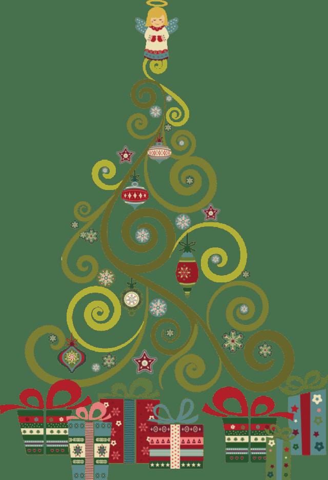 Swirl Christmas Border Red