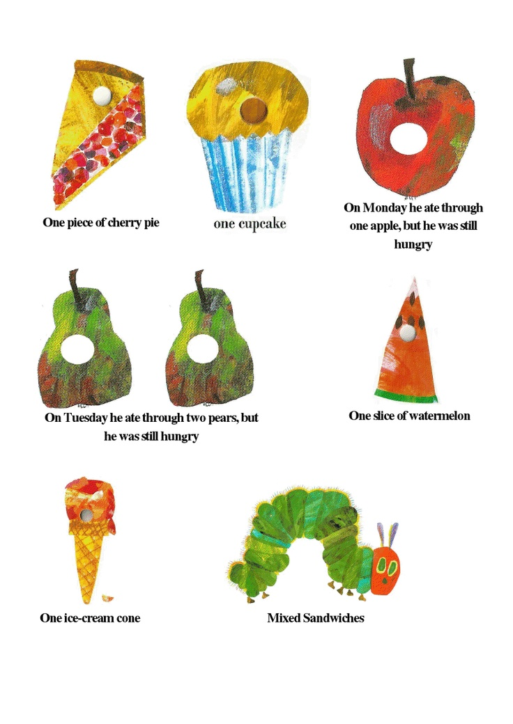 Food Labels Very Caterpillar Hungry