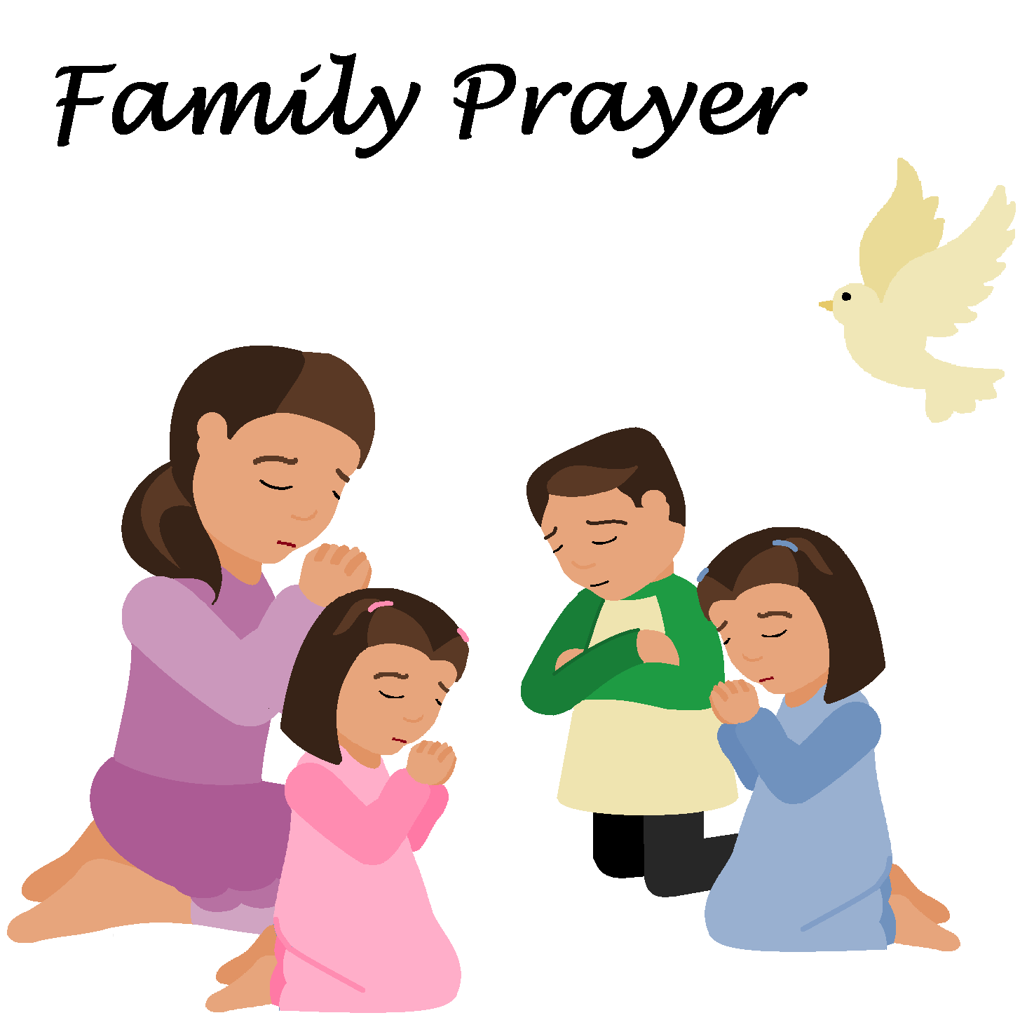 Clipart family praying together - Clip Art Library