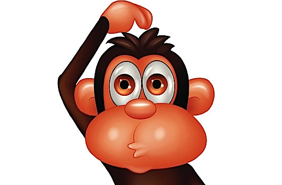 Chimp Scratching Head Thinking Gif