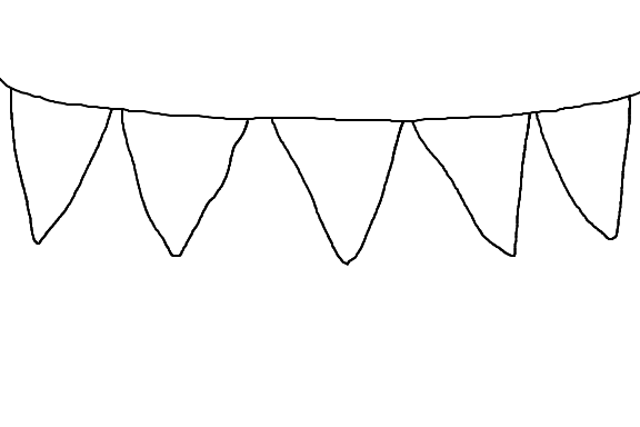 Transparent Lace Bunting