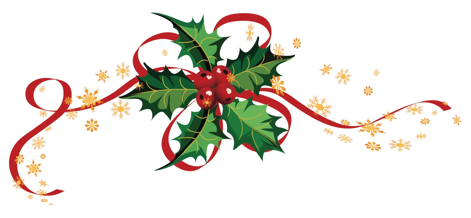 Black White Corner And Holly Christmas