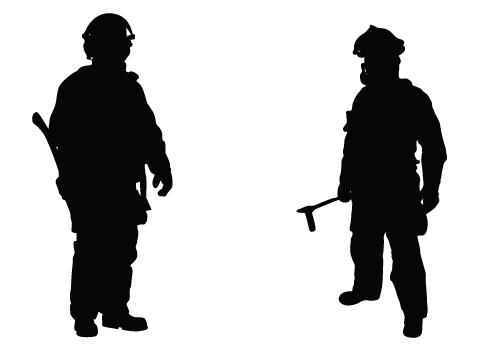 fireman silhouette clip art # 1