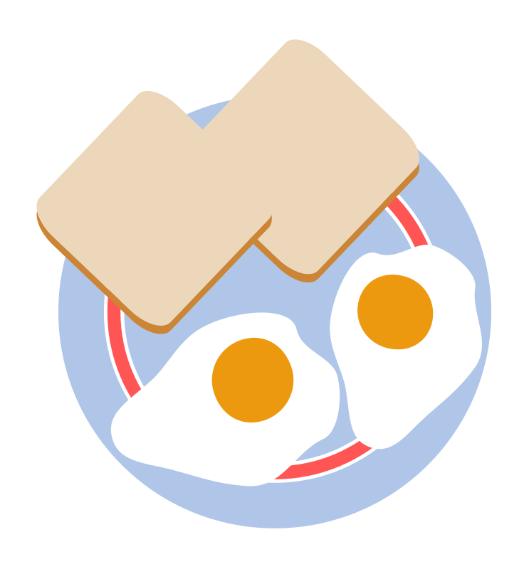 Bacon And Eggs Coloring Pages Toast