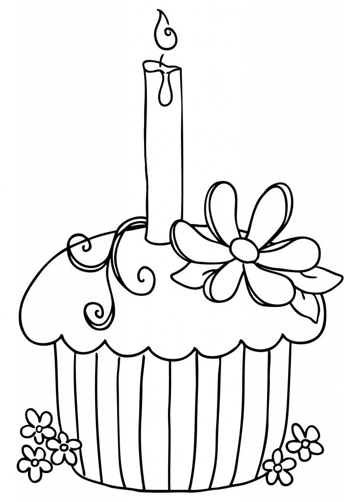 Cupcake Clipart Black And White Clipartion Com
