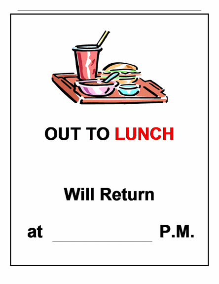 Office Will Be Closed Template