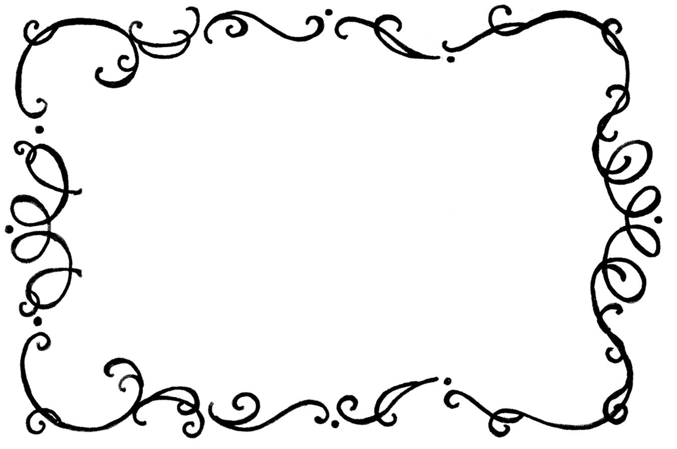 Hat Borders Black And And White Clip Frames Art