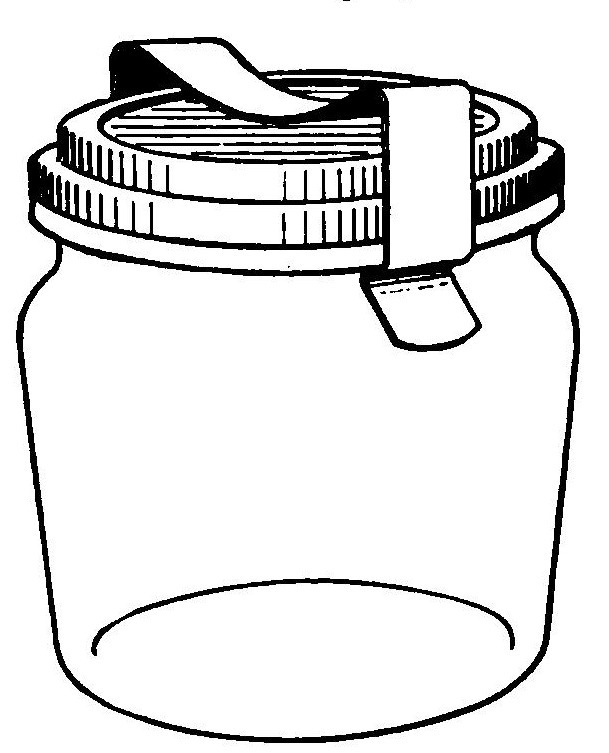 mason jar drawing template