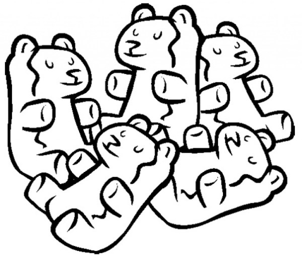 gummy bear coloring page # 8