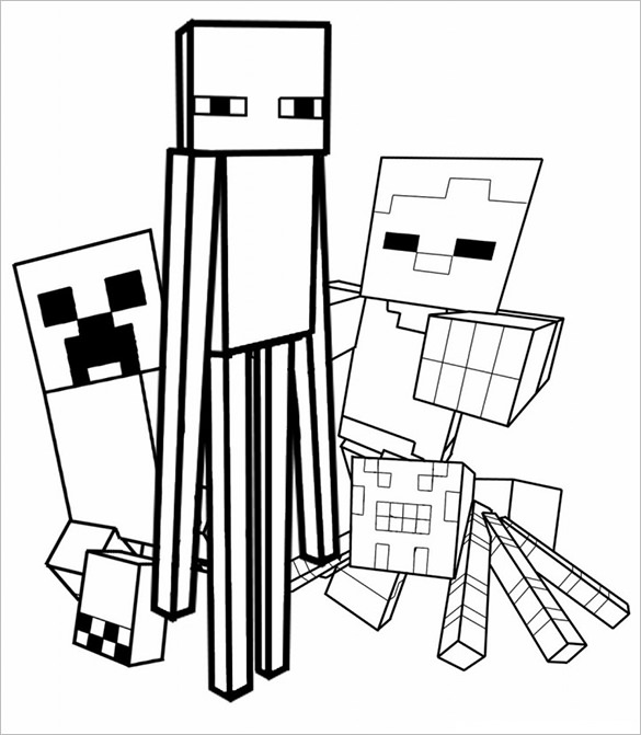 minecraft printable coloring pages # 34