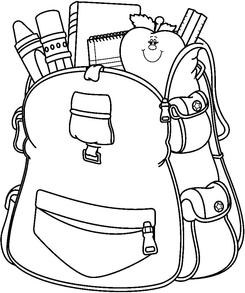 Bookbag Drawing | Free download best Bookbag Drawing on ...