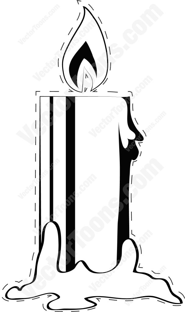 Candle Melting Clip Art