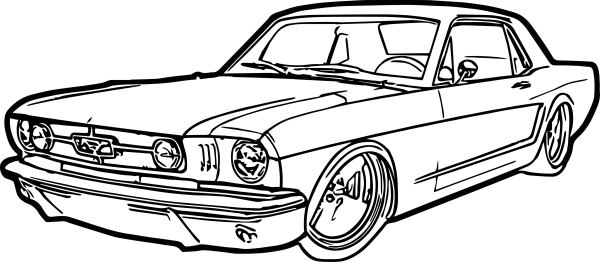 coloring page car # 5