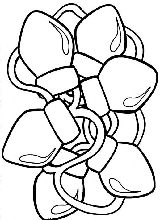 christmas lights coloring pages # 12