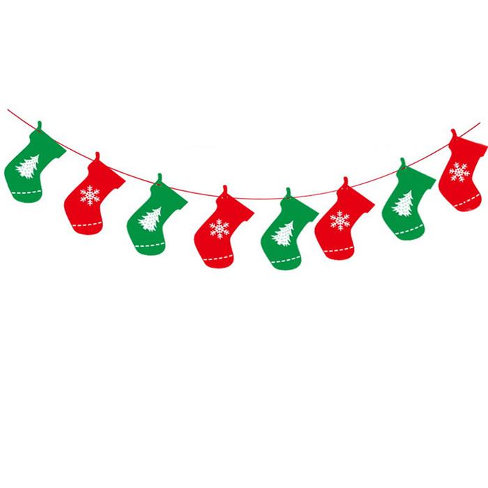 String Christmas Clip Stocking Art
