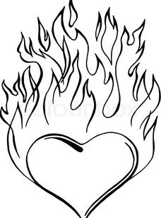 flames coloring pages # 4