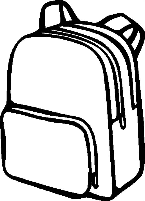 Drawing Of A Backpack | Free download best Drawing Of A ...