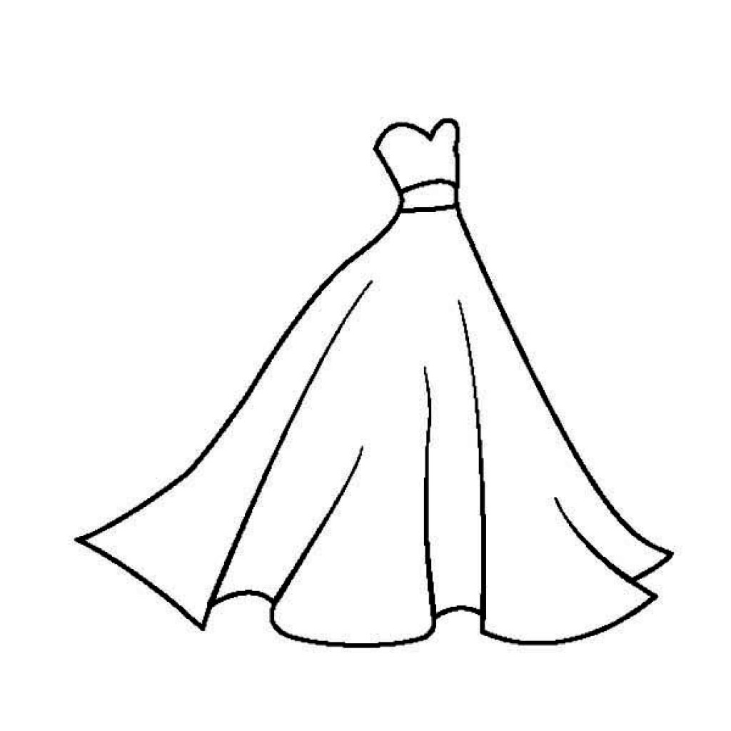 Dress Coloring Pages Free Download Best Dress Coloring Pages On