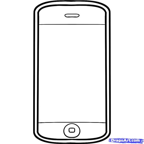 iphone coloring page # 6