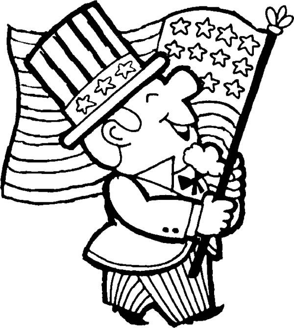 4th July Free Clip Art Black And White