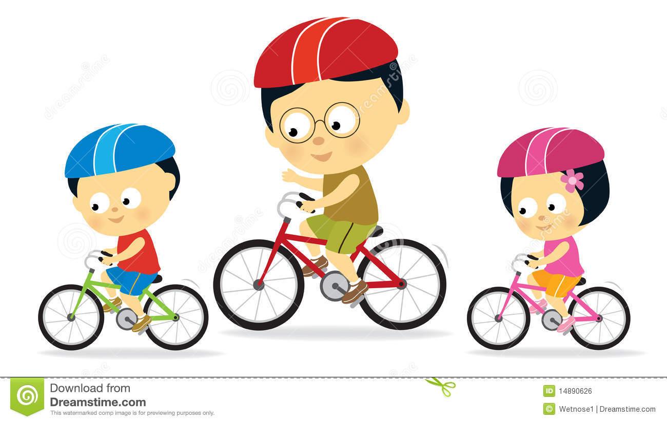 White Art Riding Clip And His Bike Boy Black