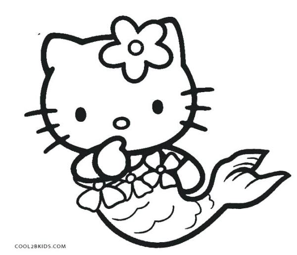 free mermaid coloring pages # 11